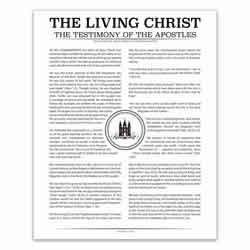 Temple Stamp Living Christ - Black - Printable