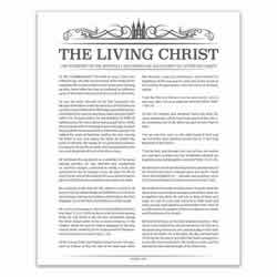 Temple Header Living Christ - Charcoal - Printable