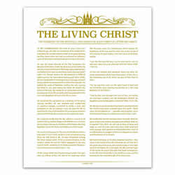Temple Header Living Christ - Gold - Printable