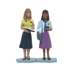 """Purple Sister Missionaries Figurine - 3"""""""