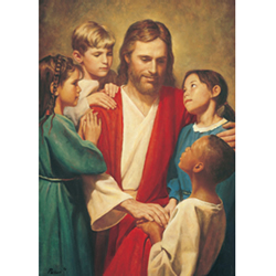 Christ and Children - Print