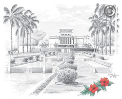 Laie Hawaii Temple - Sketch
