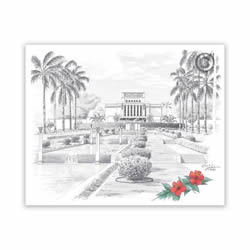 Laie Hawaii Temple Recommend Holder - CH-RH126