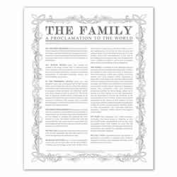 Leaf Outline Family Proclamation - Charcoal - Printable