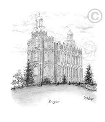 Logan Utah Temple - Sketch
