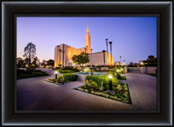 Los Angeles Temple Twilight Corner - Framed