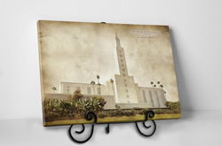 Los Angeles Temple - Vintage Tabletop