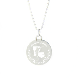 Louisiana Mission Necklace - Silver/Gold louisiana lds mission jewelry
