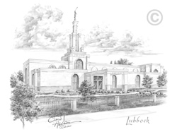 Lubbock Texas Temple - Sketch