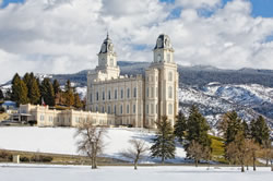 Manti Temple - Snow