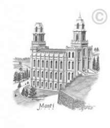 Manti Utah Temple - Sketch