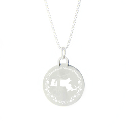 Massachusetts Mission Necklace - Silver/Gold massachusetts lds mission jewelry