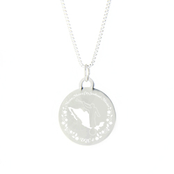 Mexico Mission Necklace - Silver/Gold lds mexico mission jewelry