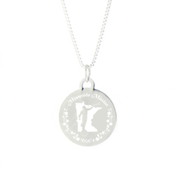 Minnesota Mission Necklace - Silver/Gold minnesota lds mission jewelry