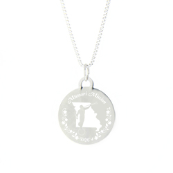 Missouri Mission Necklace - Silver/Gold missouri lds mission jewelry