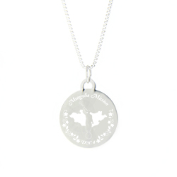 Mongolia Mission Necklace - Silver/Gold mongolia lds mission jewelry