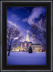 Mt. Timpanogos Temple After Snowstorm - Framed