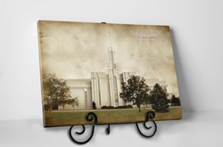 Mt. Timpanogos Temple - Vintage Tabletop
