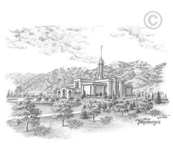 Mt. Timpanogos Utah Temple - Sketch