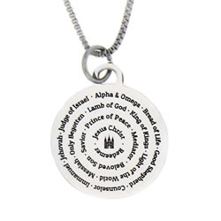 Names of Jesus Necklace - Silver - LDP-CPN0530-SLV