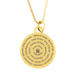 Names of Jesus Necklace - Gold