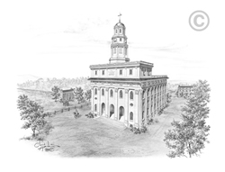 Nauvoo Illinois Temple - Sketch