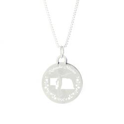 Nebraska Mission Necklace - Silver/Gold - LDP-CPN66