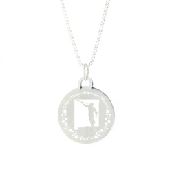 New Mexico Mission Necklace - Silver/Gold new mexico lds mission jewelry