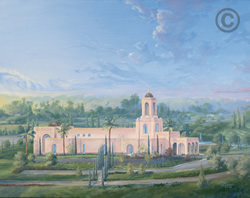 Newport Beach California Temple - Sketch