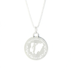 Nigeria Mission Necklace- Silver/Gold lds nigeria mission jewelry
