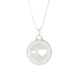 North Carolina Mission Necklace - Silver/Gold north carolina lds mission jewelry