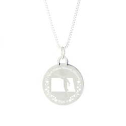 North Dakota Mission Necklace - Silver/Gold north dakota lds mission jewelry