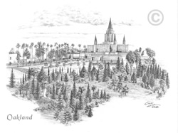 Oakland California Temple - Sketch