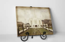 Ogden Temple - Vintage Canvas Wrap