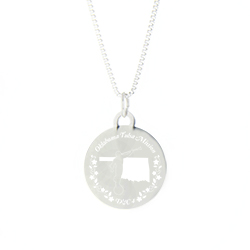 Oklahoma Mission Necklace - Silver/Gold oklahoma lds mission jewelry