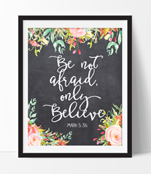 Only Believe Chalkboard - Printable