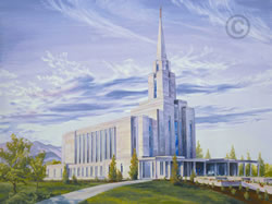 Oquirrh Mountain Utah Temple - Sketch