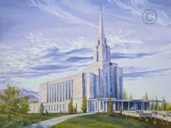 Oquirrh Mountain Utah Temple - Sketch