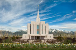 Oquirrh Mountain Temple - Spring Blossoms