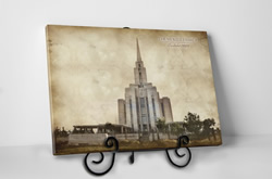 Tabletop Vintage Oquirrh Mountain Temple - D-LWA-TCW-OQR