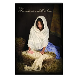 A Child is Born Program Cover lds program cover, lds ward bulletin covers, ward bulletin covers