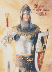 Put on the Whole Armor of God Poster - Judy Cooley
