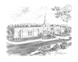 Palmyra New York Temple - Sketch