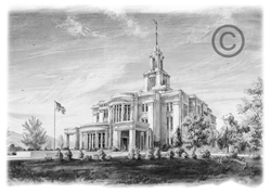 Payson Temple - Sketch