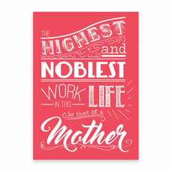 Mother's Day Card - Pink - Printable