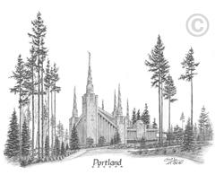 Portland Oregon Temple - Sketch