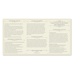 Tri-Fold Priesthood Ordinance Card