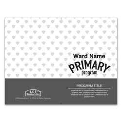 Gray Primary Program Cover - Printable