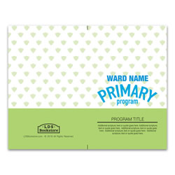 Cerulean Lime Primary Program Cover - Printable lds program cover, lds printable program cover, primary program cover
