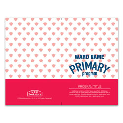 Red Primary Program Cover - Printable